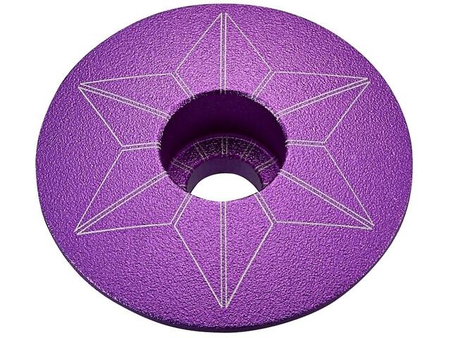 Supacaz Star Capz Ahead-Kappe eloxiert lila